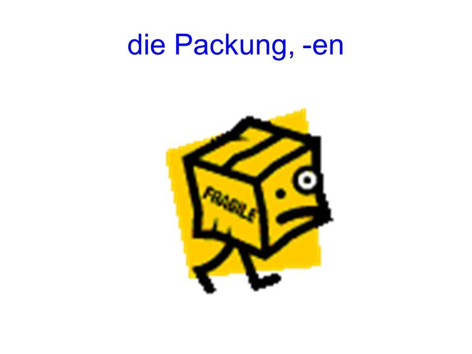 die Packung, -en