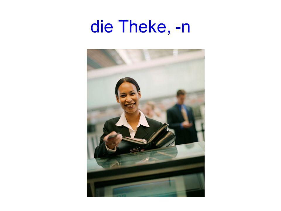 die Theke, -n