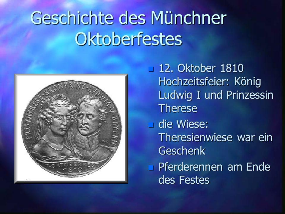 DAS 169 te MÜNCHNER OKTOBERFEST 21. September bis zum 6. Oktober 2002