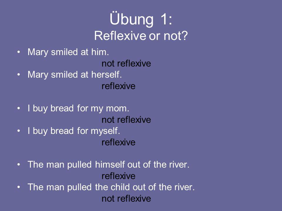 Reflexive Pronouns: Iwash myself.Youwash yourself.