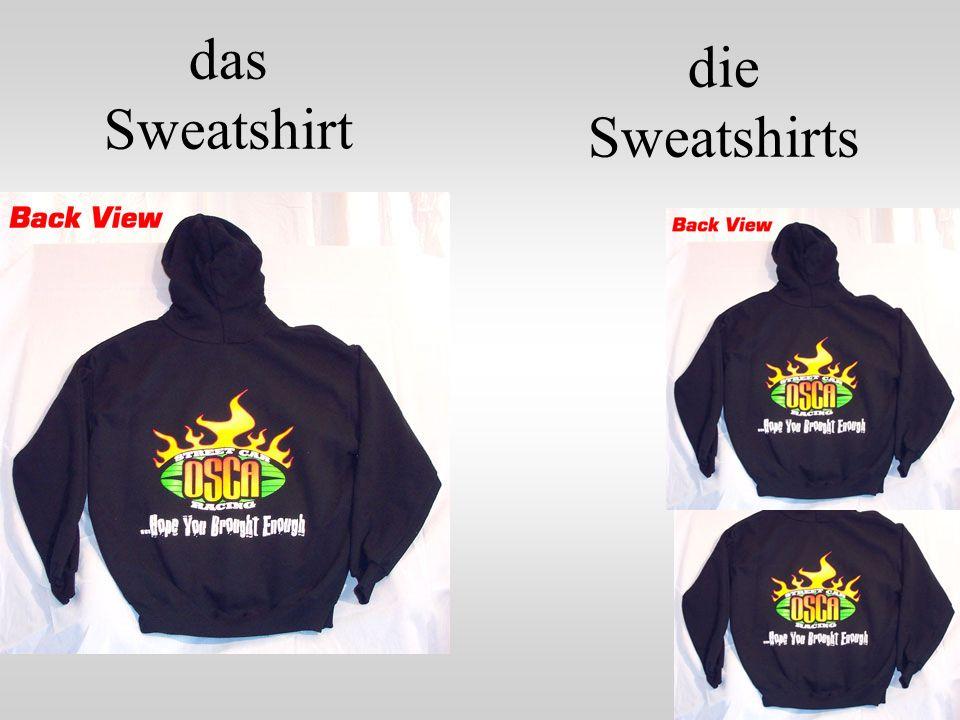 das Sweatshirt die Sweatshirts