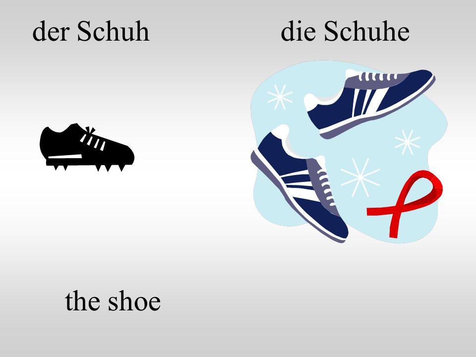 die Schuheder Schuh the shoe