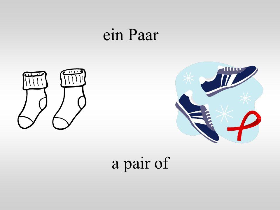 ein Paar a pair of