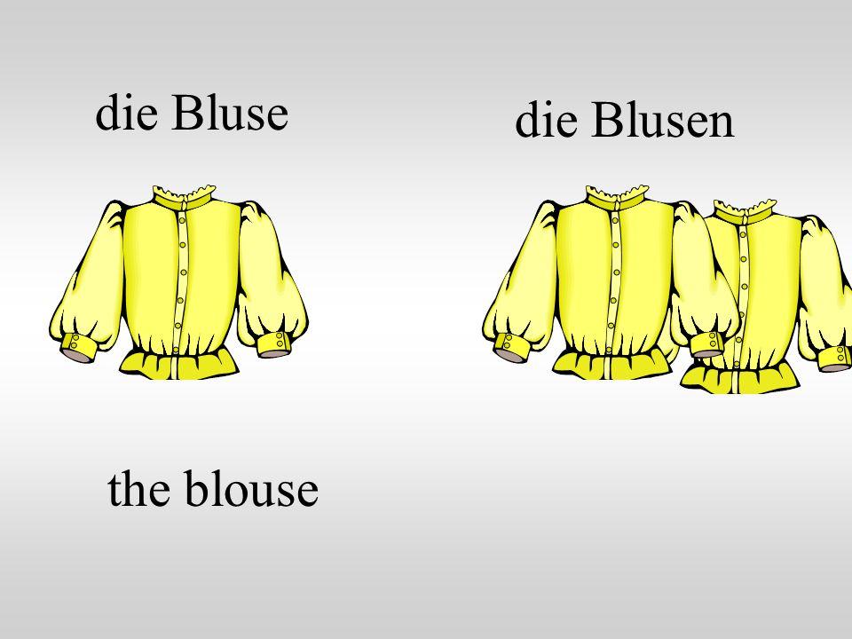die Bluse the blouse die Blusen
