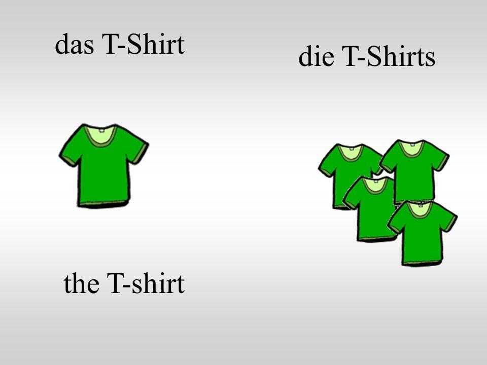 das T-Shirt die T-Shirts the T-shirt