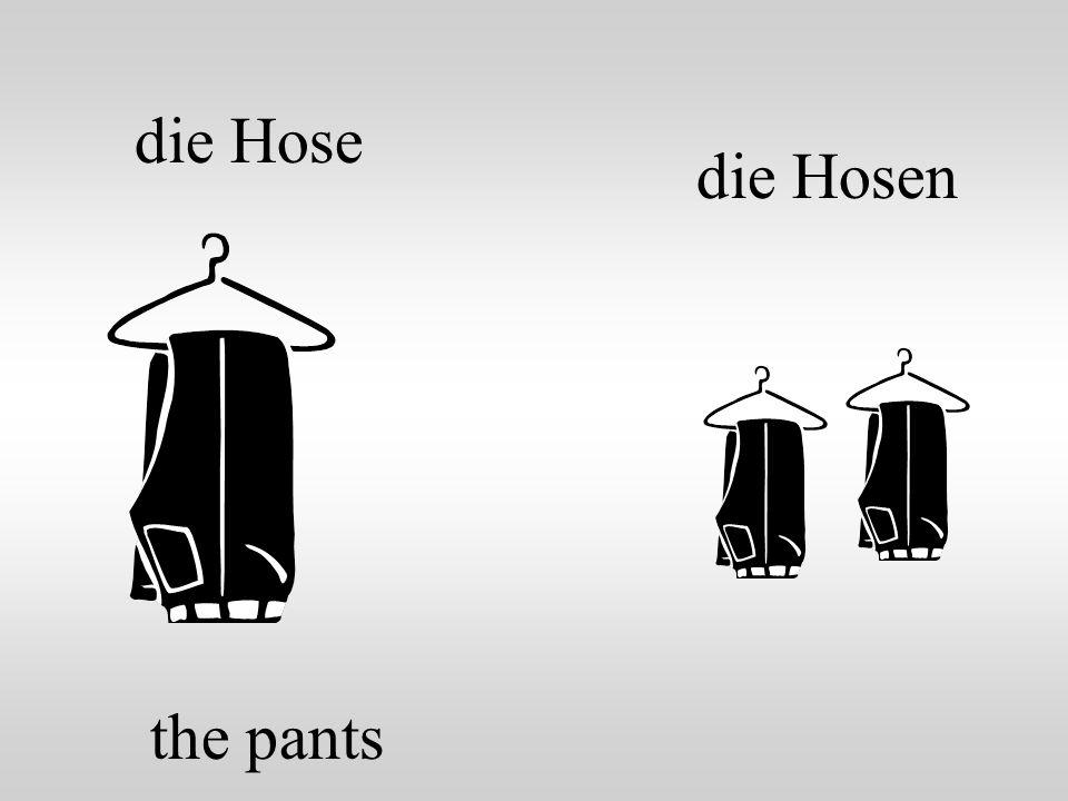 die Hose the pants die Hosen