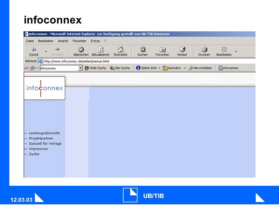 12.03.03 UB/TIB infoconnex