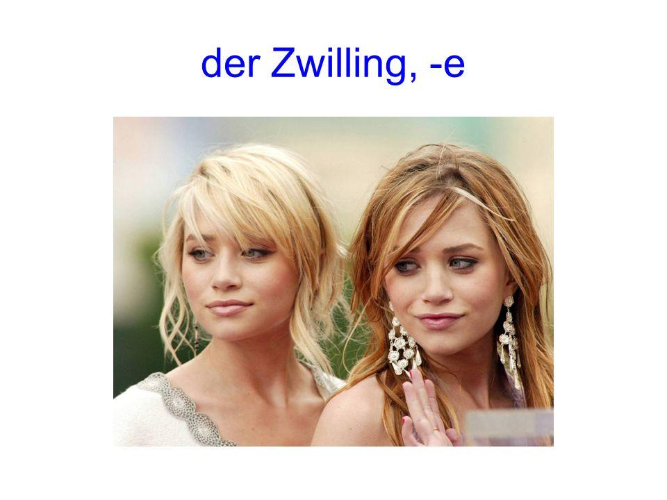der Zwilling, -e