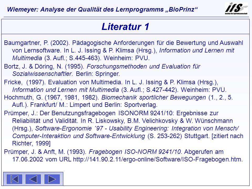 Baumgartner, P. (2002). Pädagogische Anforderungen für die Bewertung und Auswahl von Lernsoftware. In L. J. Issing & P. Klimsa (Hrsg.), Information un