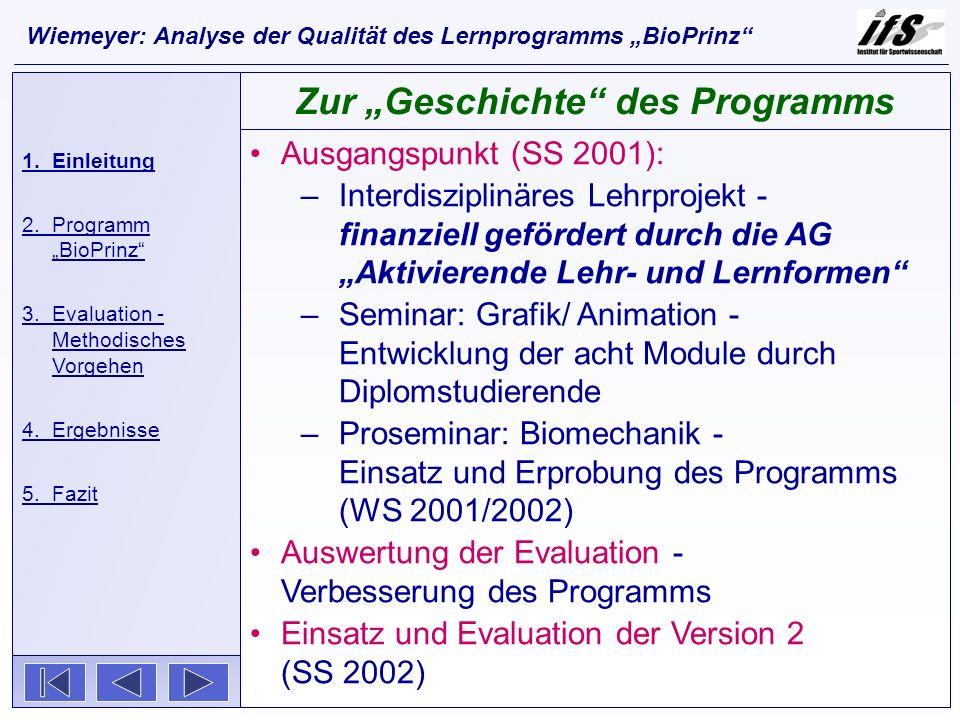 Ausgangspunkt (SS 2001): –Interdisziplinäres Lehrprojekt - finanziell gefördert durch die AG Aktivierende Lehr- und Lernformen –Seminar: Grafik/ Anima