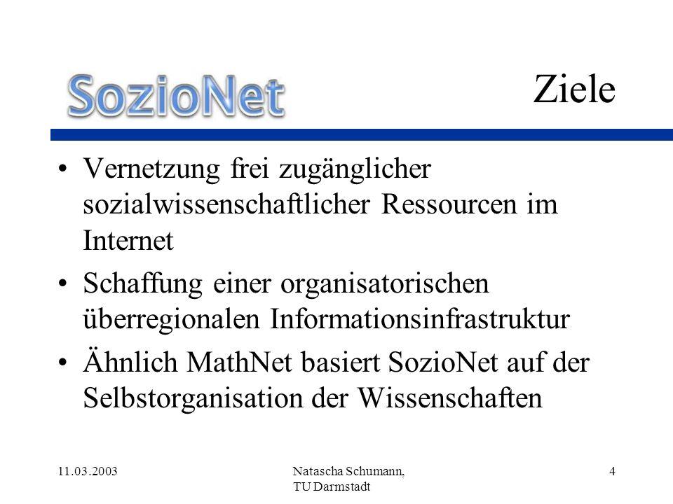 11.03.2003Natascha Schumann, TU Darmstadt 25 Vielen Dank.