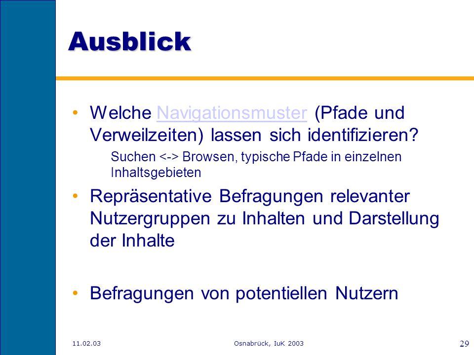 11.02.03Osnabrück, IuK 2003 28 PISA: Zusammenfassung zentraler Befunde http://www.mpib-berlin.mpg.de/pisa/ergebnisse.pdf http://www.mpib-berlin.mpg.de