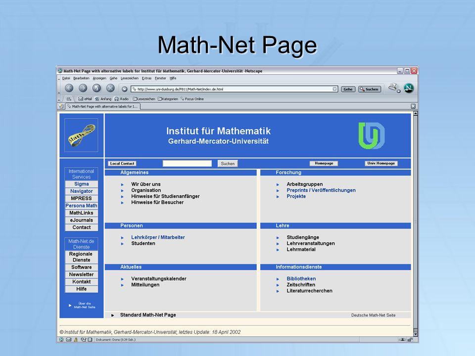 IuK 2003 Math-Net Page