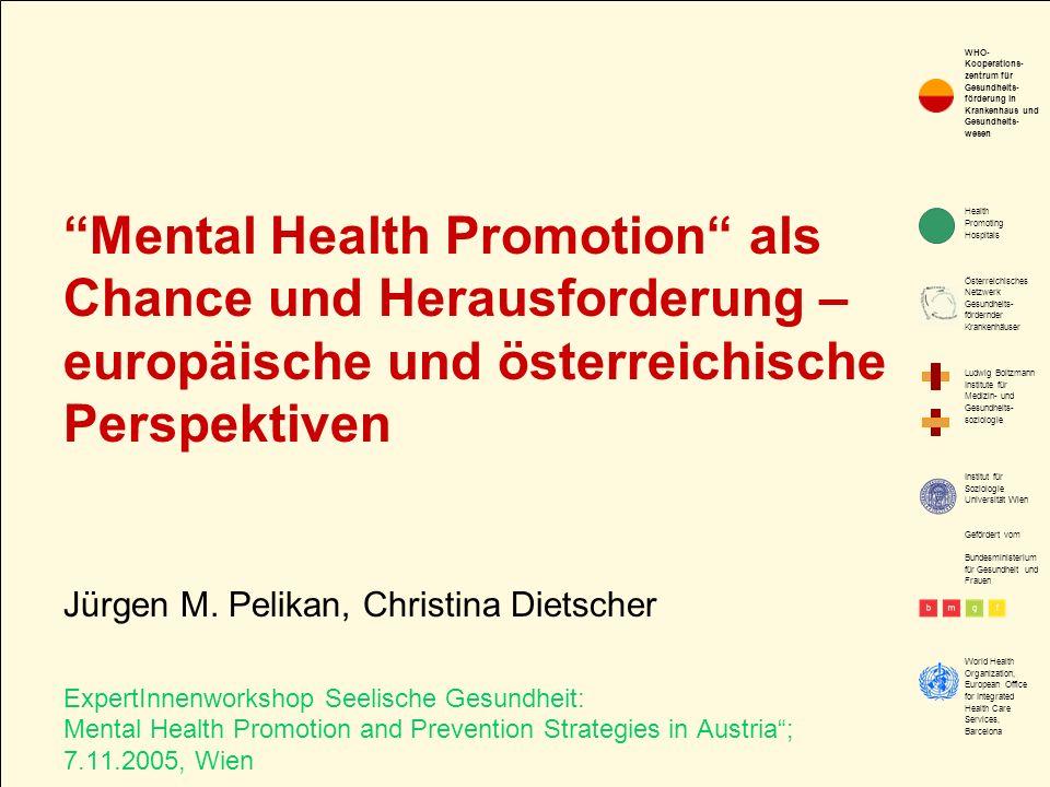 2. Mentale Gesundheitsförderung auf der europäischen politischen Agenda