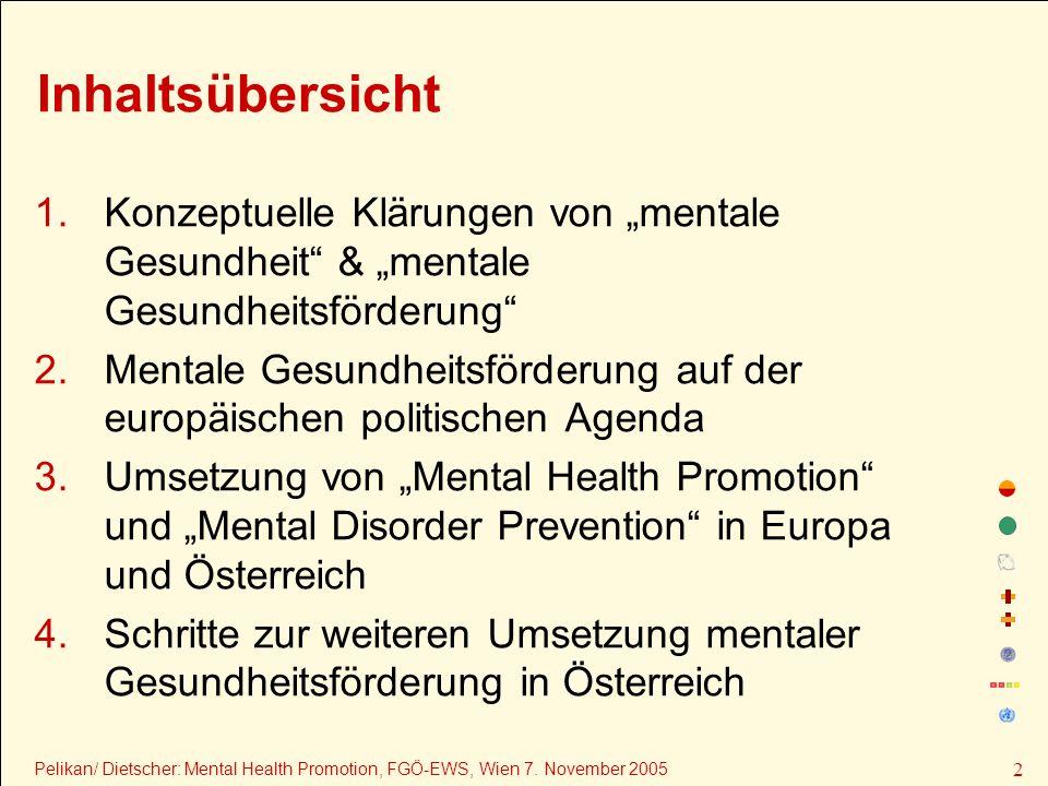 1.Konzeptuelle Klärungen von mentale Gesundheit & mentale Gesundheitsförderung