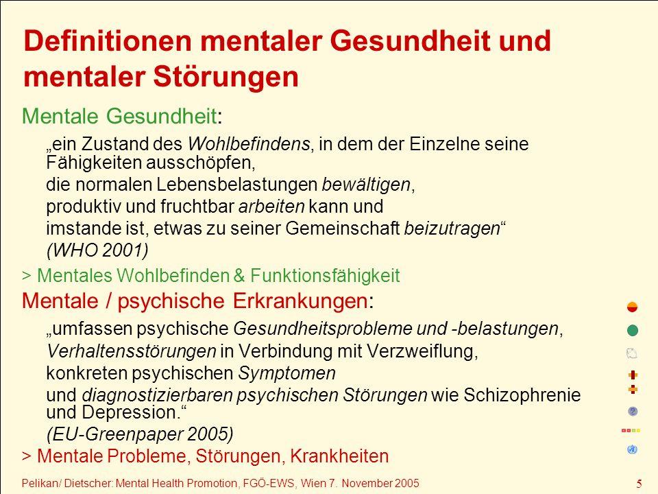 Pelikan/ Dietscher: Mental Health Promotion, FGÖ-EWS, Wien 7.