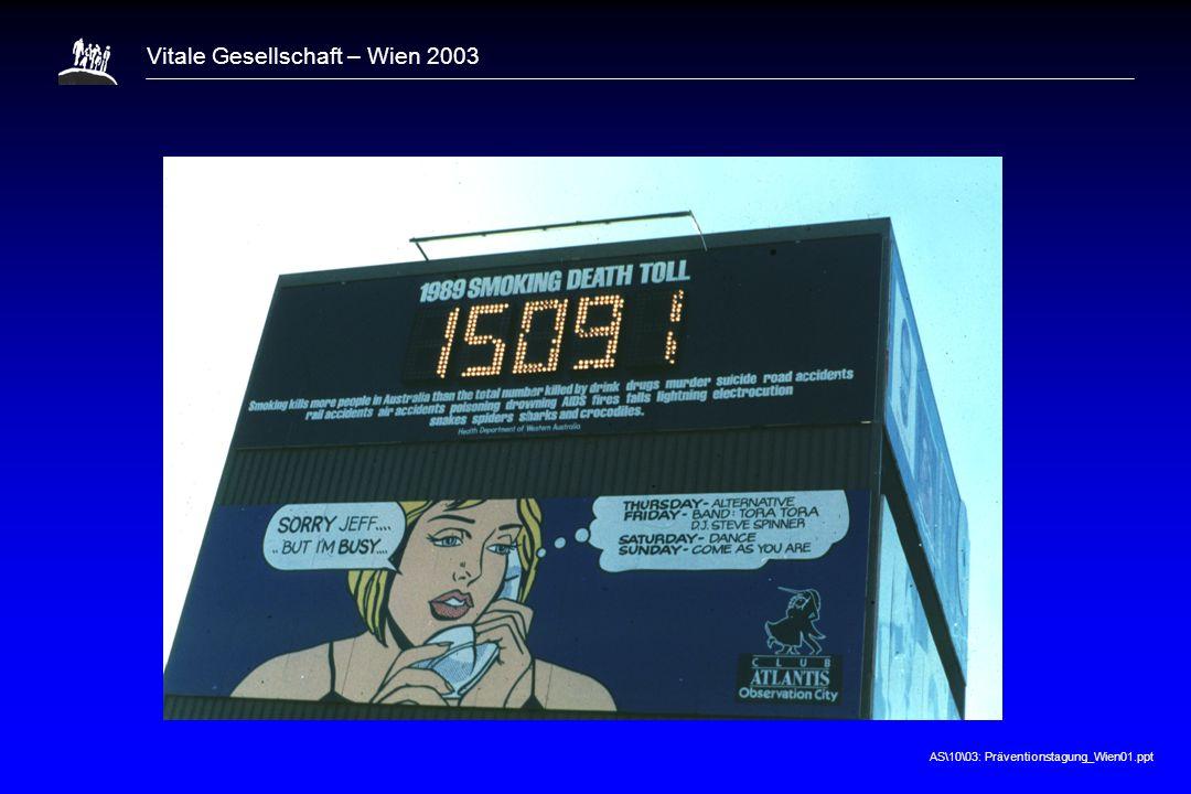 AS\10\03: Präventionstagung_Wien01.ppt Vitale Gesellschaft – Wien 2003