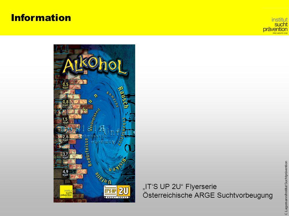 C.Lagemann/Institut Suchtprävention Information ITS UP 2U Flyerserie Österreichische ARGE Suchtvorbeugung