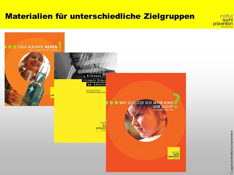 C.Lagemann/Institut Suchtprävention Materialien für unterschiedliche Zielgruppen
