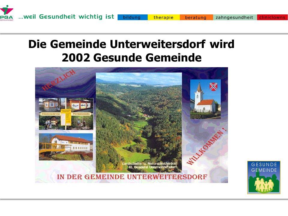 Die Gemeinde Unterweitersdorf wird 2002 Gesunde Gemeinde