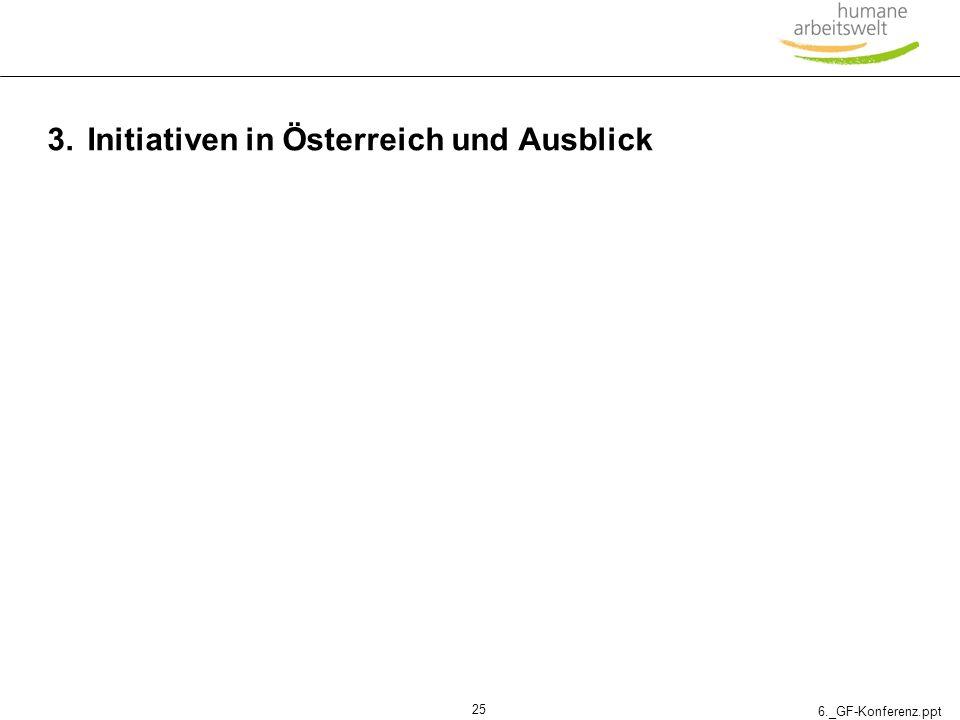 6._GF-Konferenz.ppt 25 3.Initiativen in Österreich und Ausblick