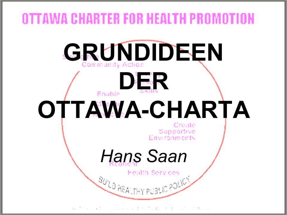 GRUNDIDEEN DER OTTAWA-CHARTA Hans Saan
