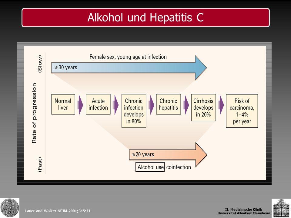 Lauer and Walker NEJM 2001;345:41 Alkohol und Hepatitis C II. Medizinische Klinik Universitätsklinikum Mannheim