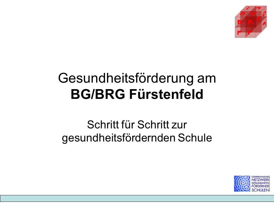 Gesundheitsförderung am BG/BRG Fürstenfeld Schritt für Schritt zur gesundheitsfördernden Schule