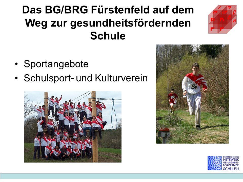 Das BG/BRG Fürstenfeld auf dem Weg zur gesundheitsfördernden Schule Sportangebote Schulsport- und Kulturverein