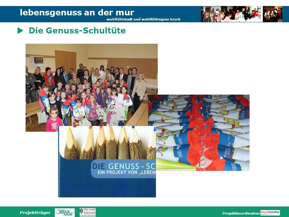 lebensgenuss an der mur wohlfühlstadt und wohlfühlregion bruck Projektträger Projektkoordination Die Genuss-Schultüte