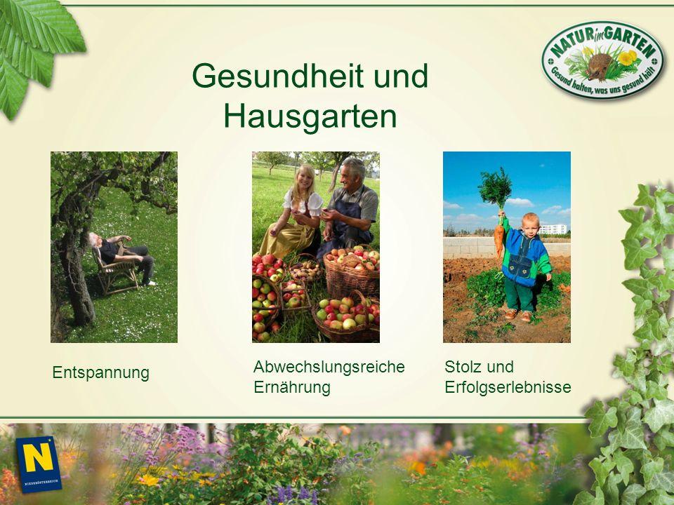 Entspannung Abwechslungsreiche Ernährung Stolz und Erfolgserlebnisse Gesundheit und Hausgarten