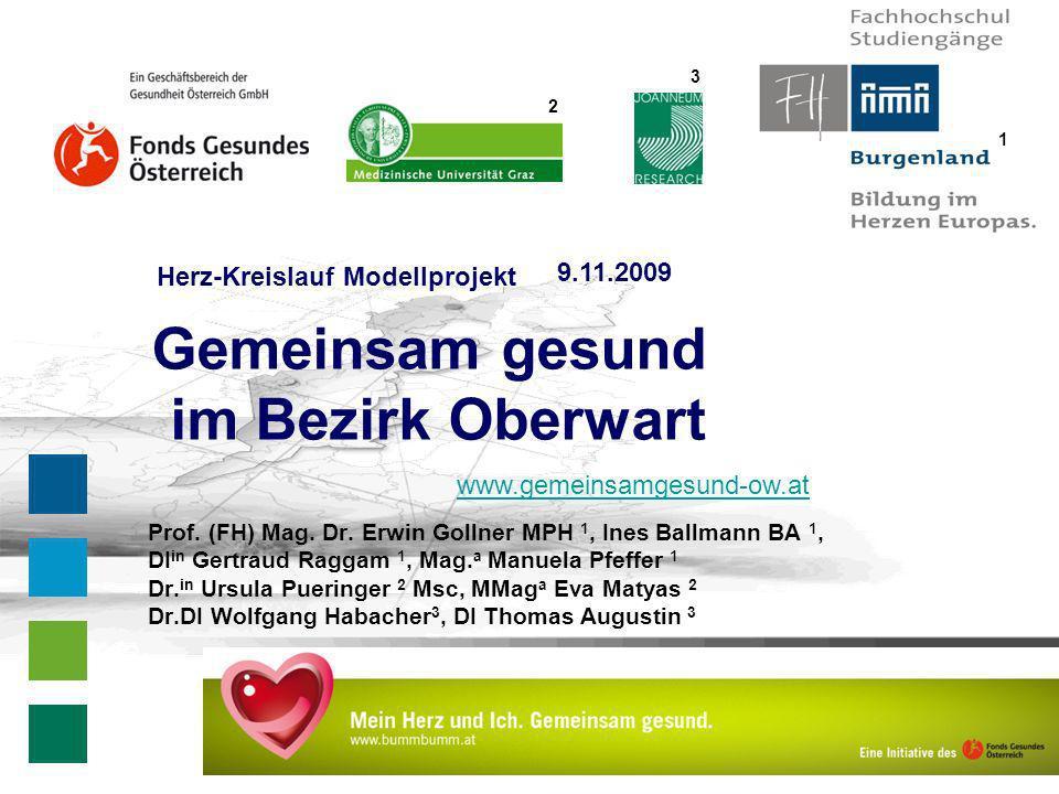 Gemeinsam gesund im Bezirk Oberwart Prof. (FH) Mag. Dr. Erwin Gollner MPH 1, Ines Ballmann BA 1, DI in Gertraud Raggam 1, Mag. a Manuela Pfeffer 1 Dr.