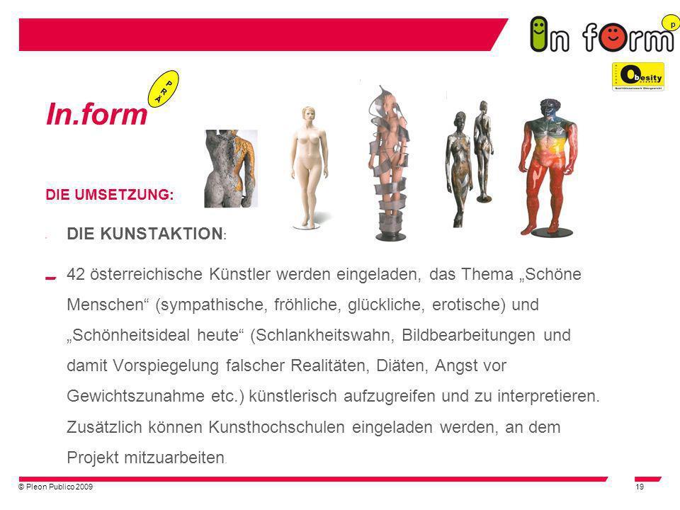 © Pleon Publico 200919 In.form DIE UMSETZUNG: DIE KUNSTAKTION : 42 österreichische Künstler werden eingeladen, das Thema Schöne Menschen (sympathische