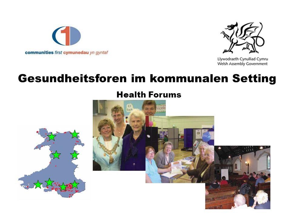 Gesundheitsforen im kommunalen Setting Health Forums