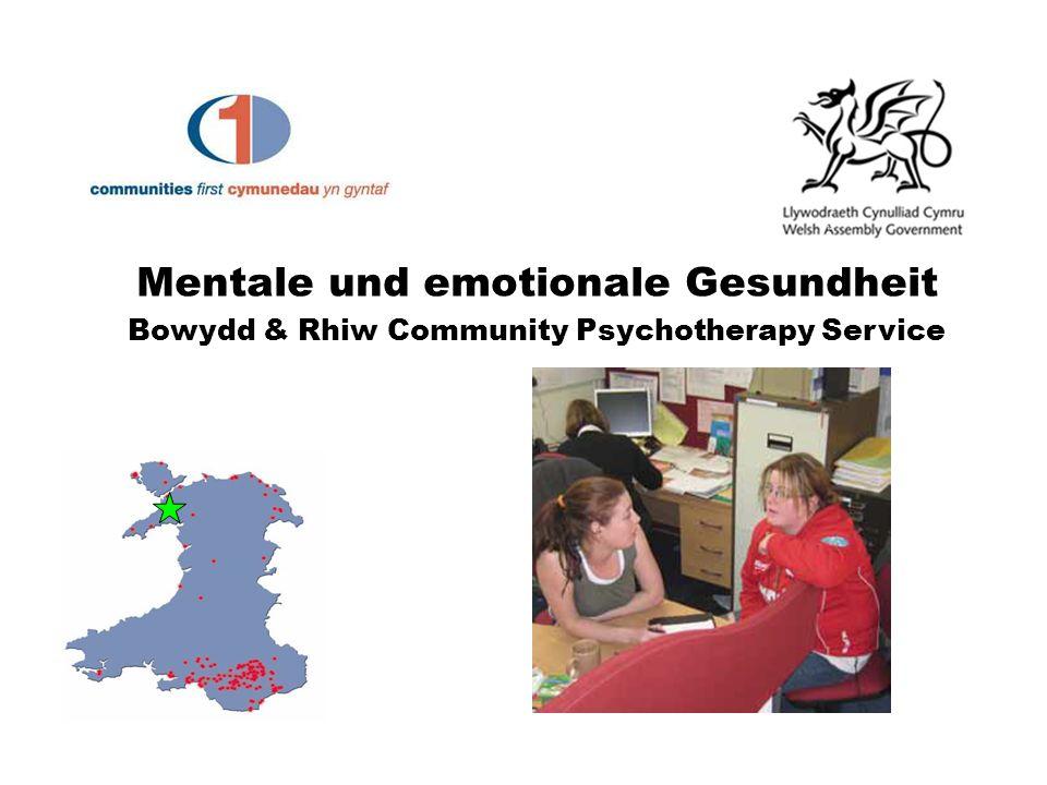 Mentale und emotionale Gesundheit Bowydd & Rhiw Community Psychotherapy Service