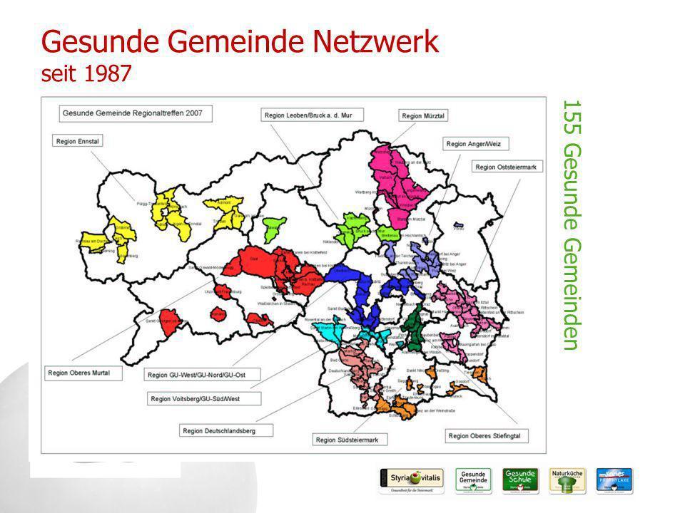Gesunde Gemeinde Netzwerk seit 1987 155 Gesunde Gemeinden