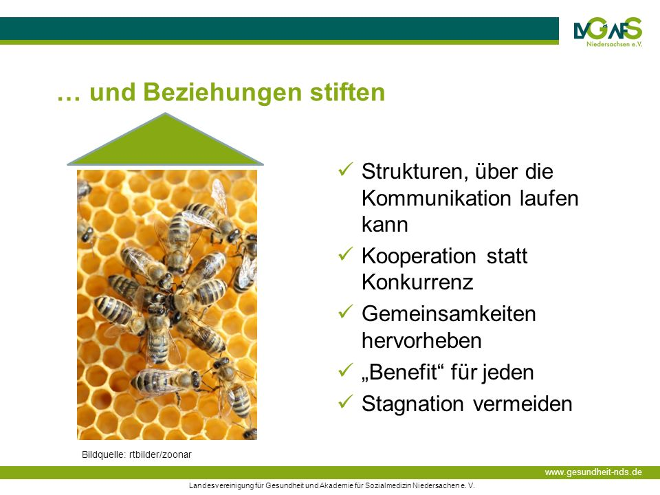 www.gesundheit-nds.de Landesvereinigung für Gesundheit und Akademie für Sozialmedizin Niedersachen e.