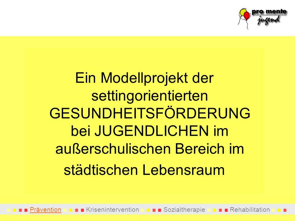 Prävention Krisenintervention Sozialtherapie Rehabilitation PROJEKTTEAM Wissenschaftliche Leitung: Prim.
