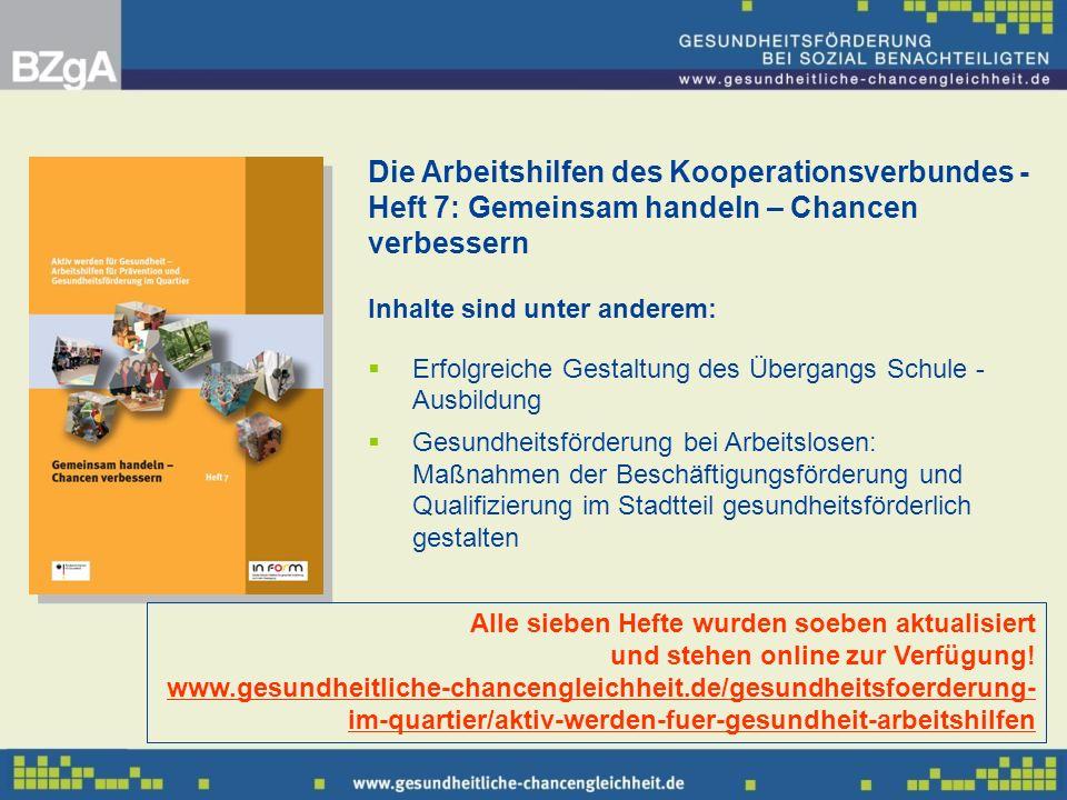 Die Arbeitshilfen des Kooperationsverbundes - Heft 7: Gemeinsam handeln – Chancen verbessern Inhalte sind unter anderem: Erfolgreiche Gestaltung des Ü