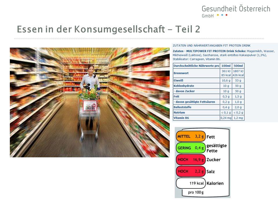 Essen in der Konsumgesellschaft - Teil 2
