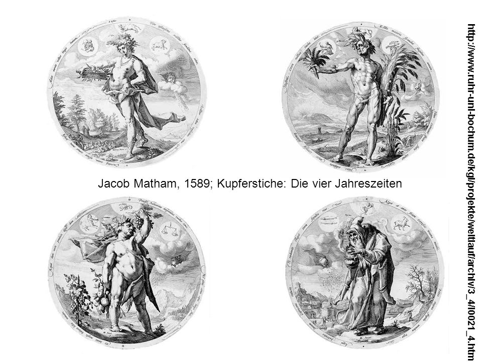 Jacob Matham, 1589; Kupferstiche: Die vier Jahreszeiten http://www.ruhr-uni-bochum.de/kgi/projekte/weltlauf/archiv/3_4/l0021_4.htm