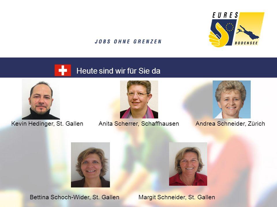 Kevin Hedinger, St. Gallen Anita Scherrer, Schaffhausen Andrea Schneider, Zürich Bettina Schoch-Wider, St. Gallen Margit Schneider, St. Gallen Heute s
