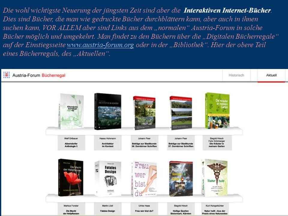 17 Die wohl wichtigste Neuerung der jüngsten Zeit sind aber die Interaktiven Internet-Bücher.