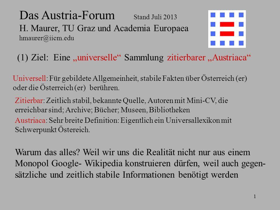 1 Das Austria-Forum Stand Juli 2013 H.
