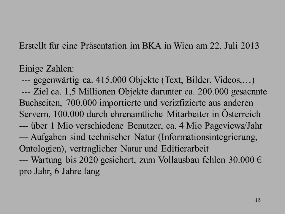 18 Erstellt für eine Präsentation im BKA in Wien am 22.