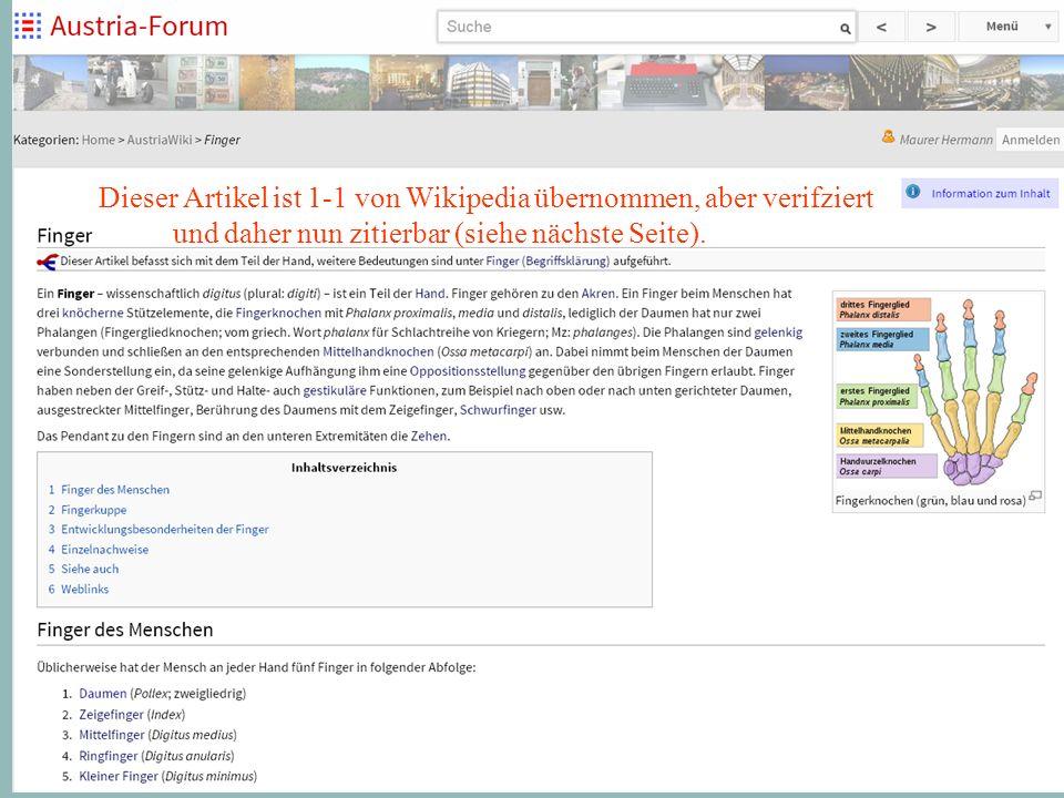 10 Dieser Artikel ist 1-1 von Wikipedia übernommen, aber verifziert und daher nun zitierbar (siehe nächste Seite).