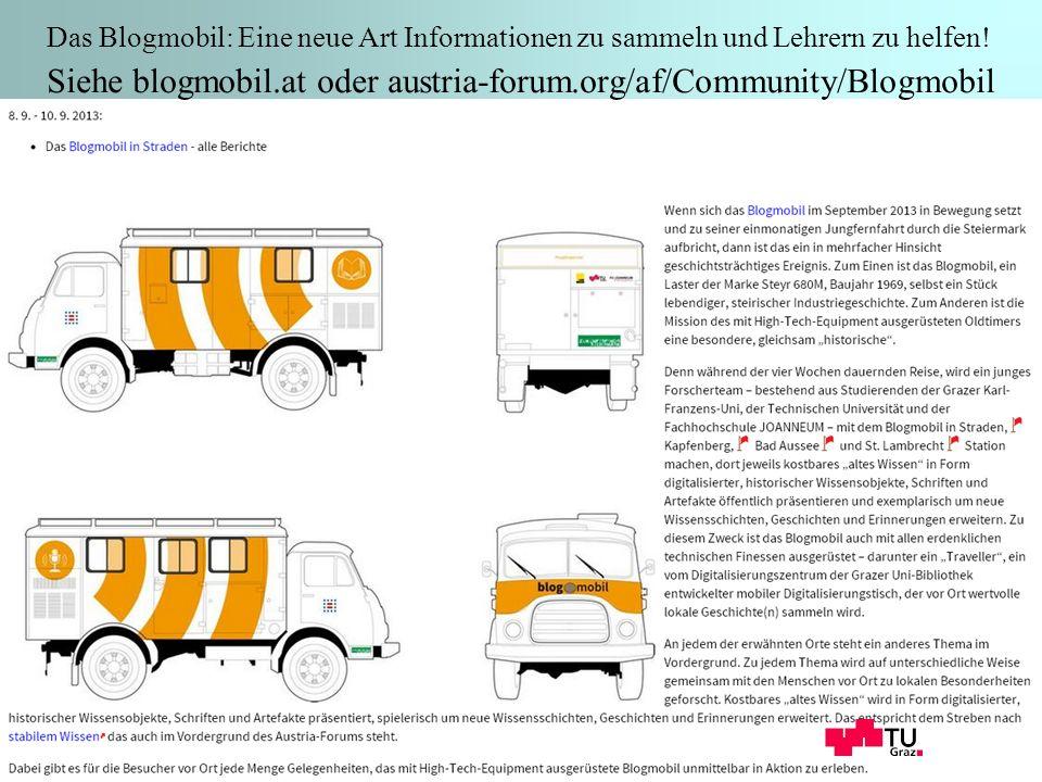 8 Das Blogmobil: Eine neue Art Informationen zu sammeln und Lehrern zu helfen.