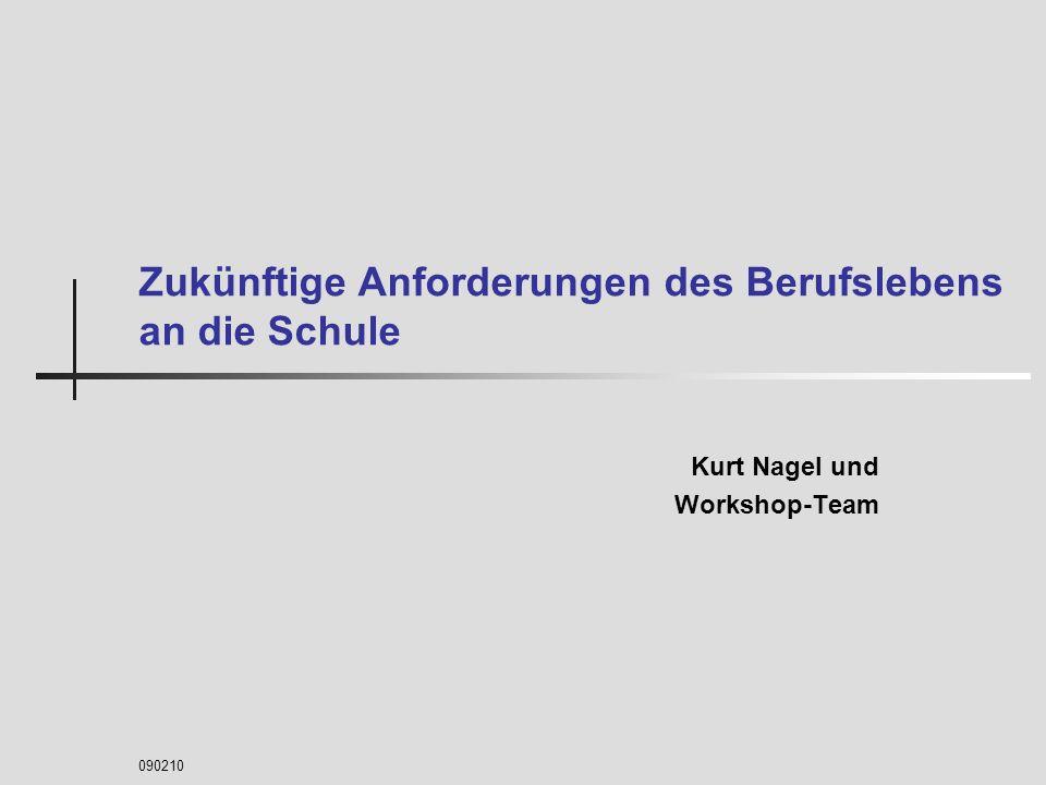 090210 Zukünftige Anforderungen des Berufslebens an die Schule Kurt Nagel und Workshop-Team