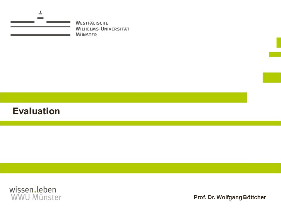 Prof. Dr. Wolfgang Böttcher Evaluation