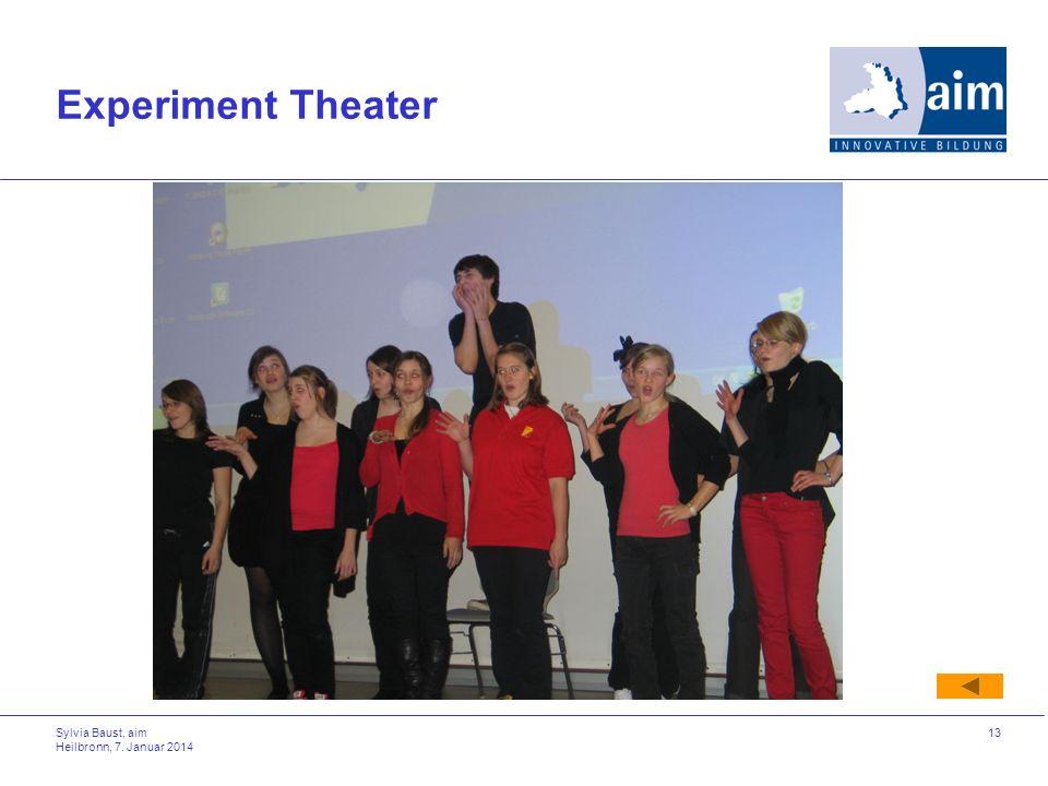 Sylvia Baust, aim Heilbronn, 7. Januar 2014 13 Experiment Theater